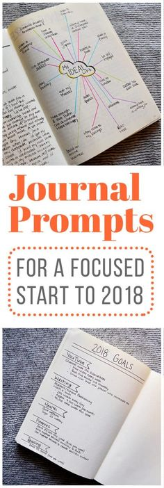With 2018 right around the corner, it's time to start getting ready for the new year! So, if you're like me and you're looking to get focused before setting goals in the new year, these journal prompts might help you, too.