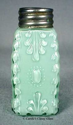 Green Cased Cactus Salt Shaker | circa 1895 | via antiquesaltshakers2.com