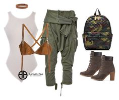 """army"" by alexannaloro on Polyvore featuring Faith Connexion, Dsquared2, Urban Renewal, M Z Wallace, Timberland and ALYANNACLOTHING"
