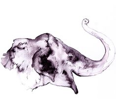 Animal Watercolor Painting  Elephant Art Print  Wall by aquatory, $45.00