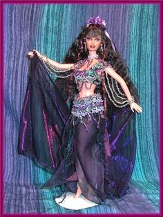 OOAK Barbie doll Bellydancers, Genies, Belly Dancers, Egyptian Dolls, one of a kind dolls