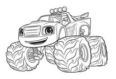 monster machine coloring pages   11 mejores imágenes de Blaze and the monster machine ...