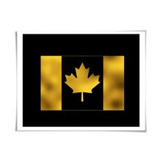 Canada Maple Leaf Flag Gold Foil Art Print. Gold. Silver. Copper. 36 Colours/3 Sizes. Canadian Travel Poster