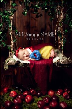 Creative Newborn Photography Fit for a Disney Princess And Aryanna has the dress too!!