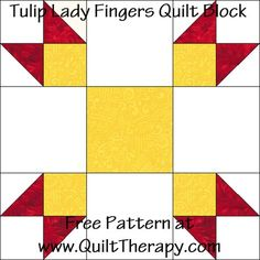 Quilted Kitchen: Tulip Lady Fingers Quilt Block & Homeade Lady Fingers Recipe | Quilt Therapy