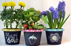декор цветочных горшков своими руками 10