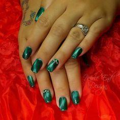 Cateye effect gel polish over acrylic enhancements  #cateye #acrylicnails #nailart #blingnails #instanails #nailpro #nailgame #nailgasm #nailista #nailart #nailswag #nailsdid #nailstagram #teamgorgeous #showscratch #scratchnails #nailsmagazine #instagood #cute #cutenails #nailartjunkie #nailartoohlala #nailsoftheday #nailartaddict #nailartjunkie #naildesigns #nailpromote #shaftesburynails #dorsetnails #gillinghamnails #moleenddesign