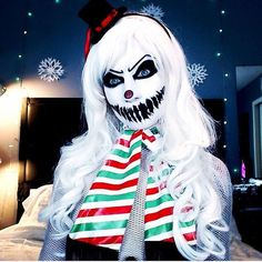 YES! EVIL SNOWMAN MAKEUP! YES!
