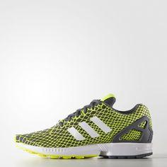 dc34d3b853484 ZX Flux Techfit Shoes - Yellow Yellow Adidas