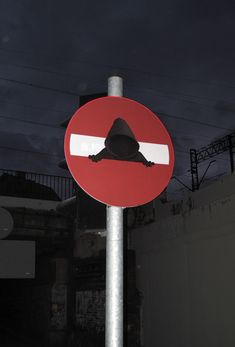 """Funny and creative street art project by Dan Witz, see more """"Do not enter"""" pieces on his website. Street Art Utopia, Street Art Graffiti, Urban Street Art, Urban Art, Ver Star Wars, Modern Pop Art, Graffiti Painting, Hypebeast Wallpaper, Street Signs"""