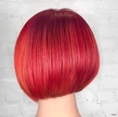 Redken stylist Sean Godard has some serious skills with a color brush. Bright Red Hair, Stylists, Hair Color, Thick Hair, Long Hair Styles, Bobs, Beauty, Hair Coloring, Brushes