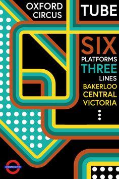 Sharpen.Design practice Poster Design London Tube Oxford Circus
