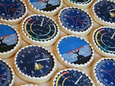 Flight Fun Cupcakes, Cupcake Cakes, Sugar Cookies, Cookies Et Biscuits, Retirement Cakes, Retirement Planning, Retirement Decorations, Airplane Cookies, Planes Cake