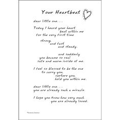 Baby Scrapbook Quotes - Poem for a Page Stickers. Or the day I heard your heartbeat . . .
