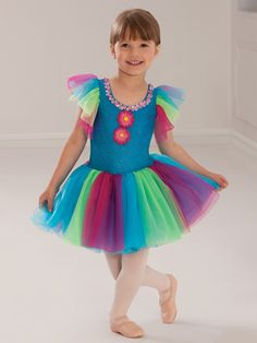 Sing a Rainbow - Style 0367 | Revolution Dancewear Children's Dance Recital Costume