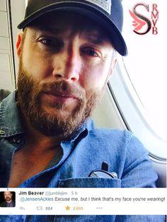 Olha oque o Jim Beaver comentou sobre a nova do Jensen Ackles ''Desculpe-me, mas eu acho que você está vestindo o meu rosto''