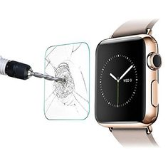 RC 42mm Apple Watch Screen Protector, 0.2mm Tempered Glass Screen Protector for Apple Watch-Anti-Glare / Anti-Fingerprint / Anti-Bubble, Pack of 2. Designed slightly smaller than the actual screen of the device due to the curved edges of the iWatch 42MM. Extremely high hardness: resists scratches up to 9H, harder than a knife. Hydrophobic and oleophobic screen coating protects against sweat and oil residue from fingerprints. Optical transmittance grade, ultra-low reflection, high...