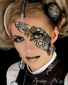 Steampunk Makeup Guide: How to glue gears on your skin - For costume tutorials, . Steampunk Makeup Guide: How to glue gears on your skin - For costume tutorials, clothing guide, fashion inspiration Steampunk Makeup, Costume Steampunk, Style Steampunk, Steampunk Mask, Victorian Steampunk, Steampunk Diy, Steampunk Clothing, Steampunk Fashion, Casual Steampunk