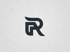 R monogram logo by Damian Jagielski Initials Logo, Monogram Logo, Graphic Design Typography, Branding Design, Ra Logo, Typographic Logo, Marca Personal, Logo Concept, Alphabet