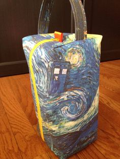 Starry Night TARDIS Box Bag by SecondAvenueSwag on Etsy