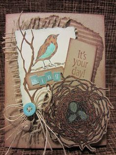 #distressed card
