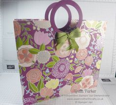 Linda Parker UK Independent Stampin' Up! Demonstrator from Hampshire @ Papercraft With Crafty : So Excited with my Large Tote Bag in Beautiful Sweet Soiree DSP & Video Tutorial