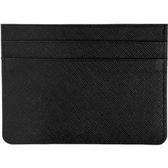 TEXTURED LEATHER CARD HOLDER BLACK ($25) ❤ liked on Polyvore featuring bags, wallets, fillers-black, card case wallet, credit card holder wallet, card carrier wallet and card holder wallet