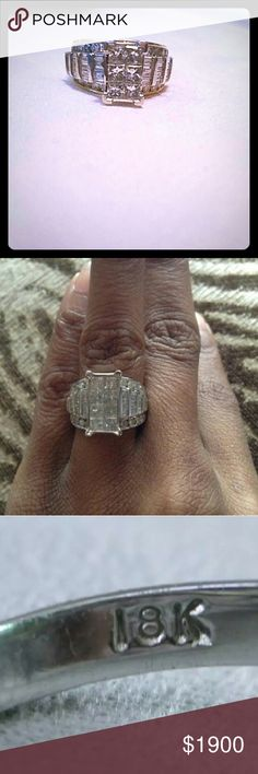 $700 ppl genuine 3CTW diamond ring size 7 18k This is a stunning 3CTW diamond ring purchased from jtv for $2,500 on sale. Normal price was $3,900 I'm selling cheap because I need the money to help pay for uncle funeral cost asap because I just learned he doesn't have insurance. I'm wheelchair bound so please keep in mind that car's to go sell isn't a option at this Time I did try to sell through a online jewelry store they turned out to be a scam and took my stuff. I tried to call them and…