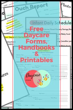 Daycare Studio is your one stop shop for your daycare or child care center! From handbooks and policies to signs and flyers! We have it all! Attendance Sheet, Starting A Daycare, Daycare Forms, Registration Form, Child Care, Flyers, Printables, Signs, Studio