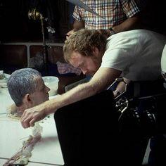 Ridley Scott on the set of Alien.