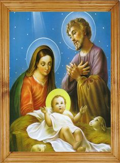 Obraz z ramą 35x50 cm BOŻE NARODZENIE RELIGIJNE (5150751308) - Allegro.pl - Więcej niż aukcje.
