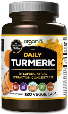 Daily Turmeric Boost - Turmeric Super Food Supplement (2000mg) 30 Day Supply. USDA Raw Organic Vegan Turmeric Veggie Capsules (120 Count) by Organifi ** Want to know more, click on the image.