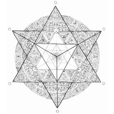 "Metatron's Cube is a structure born out of the Flower of Life. It represents the gridwork of our consciousness and the building blocks of the Cosmos. It is the matrix in which everything is contained in our 3-dimensional reality.  Metatron is also known as an Archangel, known as the ""big angel"". He oversees all the other Archangels"