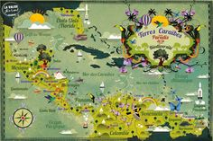 Alexandre Verhille - Map of Caribbean