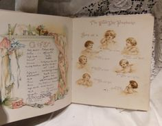 Old baby book
