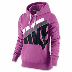 Women's Nike Club Stacked Pullover Hoodie | FinishLine.com | Club Pink