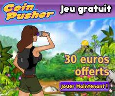 Coin Pusher vous offre 30 euros en crédit de billes pour jouer à leurs jeux d'adresse et tenter de gagner des cadeaux et du cash.