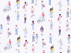 Igor Kozak - Pattern #1  <p>Some characters from current project.</p>  characters,colorful,isometric,rboy,rocketboy,shopping