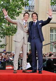 Harry Potter and The Deathly Hallows Pt 2 Premiere The Weasley's Twins