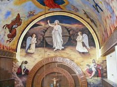 Christ has risen from the dead Church Interior, Murals, Egyptian, Catholic, My Arts, Icons, Touch, Painting, Wall Murals