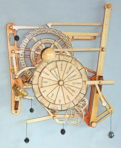 wood gear clock plan - more details please visit http://ift.tt/1XTolnA