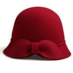 Red bow hat www.indressme.com $28.80 In stockSKU: zz926018 Red color Style: cap Hat circumference: adjustable Crowns: dome Fabric: woolen