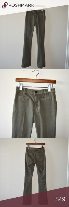 SANCTUARY BELL BOTTOM JEANS Olive green flare jeans in perfect condition!   🚫NO TRADES  💵Will accept reasonable offers! 🤗 comment any questions you may have! Sanctuary Pants Boot Cut & Flare