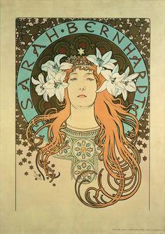Alphonse Mucha Sarah Bernhardt | Bild: Alphonse Mucha - Sarah Bernhardt (1844-1923) La Plume