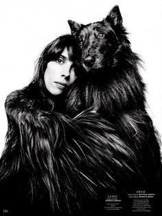 Jamie Bochert for Garage Magazine // #editorial #fashion #dog