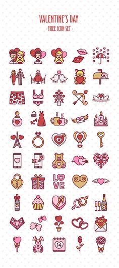 https://www.behance.net/gallery/33086839/Valentines-Day-Free-Icon-Set