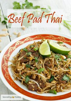 See how easy it is to make delicious Beef Pad Thai at home with Red Boat Fish Sauce. Fresh cilantro, and squeeze of lime make this a memorable dish.