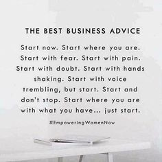 The best advice Just do it Healthy hair savings opportunity sahm Mom entrepreneur Mom boss boss babe mompreneur salon balayage ombré cut color life changing oppor. Motivacional Quotes, Babe Quotes, Quotes To Live By, Hustle Quotes, Famous Quotes, Business Coach, Business Advice, Small Business Quotes, Business Stories