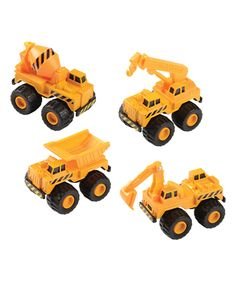 Look what I found on #zulily! Heavy Duty Construction Vehicle Set by Constructive Playthings #zulilyfinds
