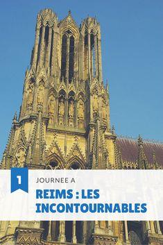 Un programme d'une journée pour découvrir Reims, capitale de la Champagne et son… Belle France, Destinations, Voyage Europe, France Europe, Luxembourg, Barcelona Cathedral, Notre Dame, Unesco, Explore